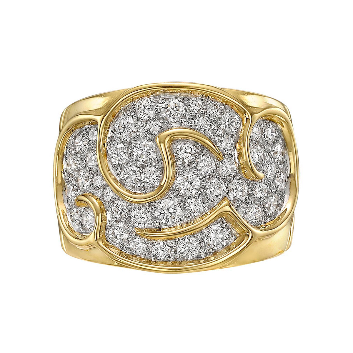 "18k Yellow Gold & Diamond ""Onda"" Ring"