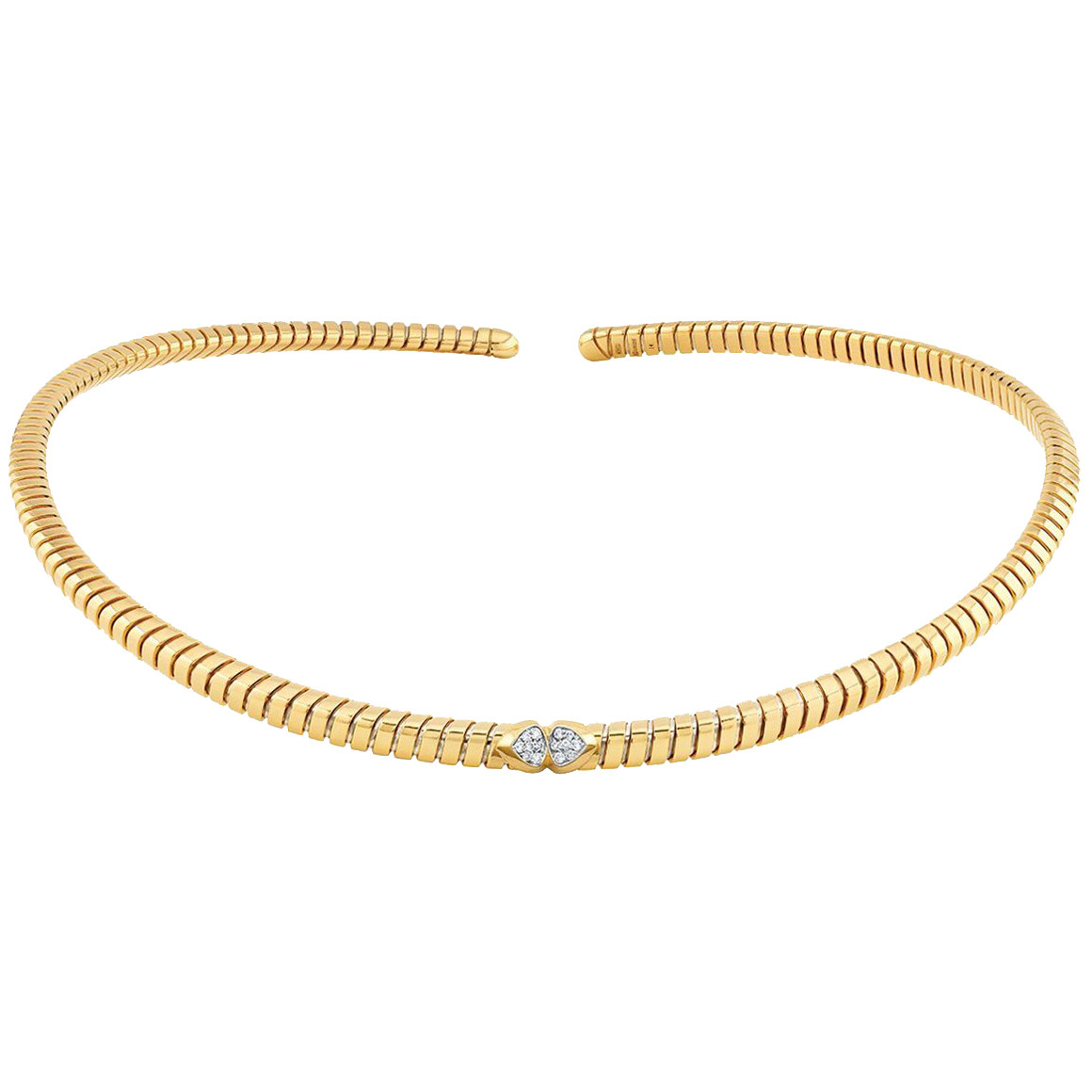 "18k Yellow Gold & Diamond ""Trisolina"" Collar"