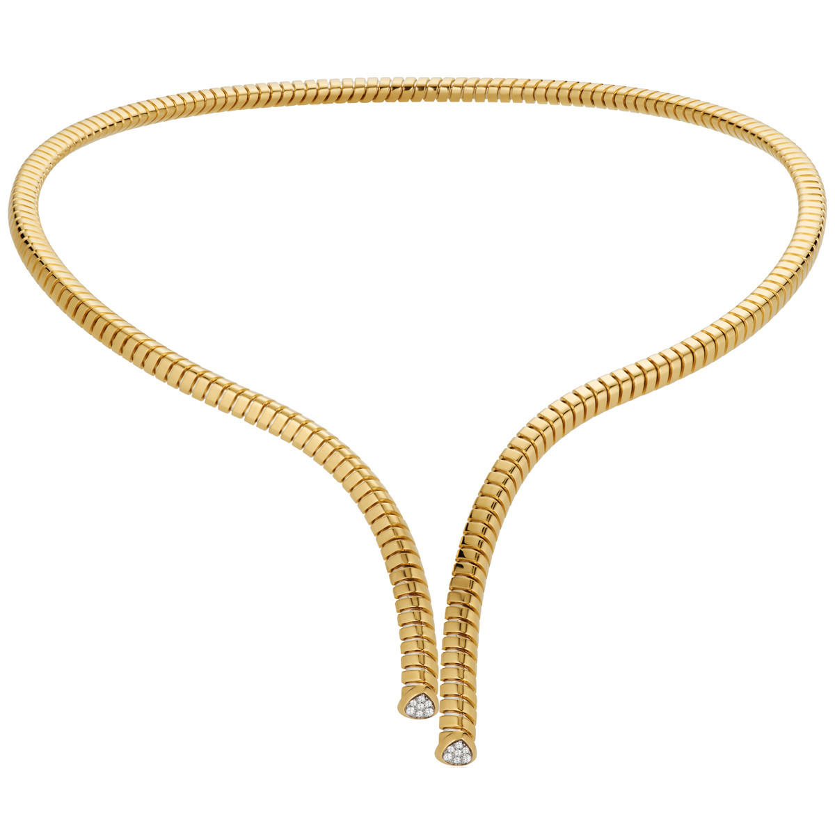 "18k Yellow Gold & Diamond ""Trisolina"" Long Collar"