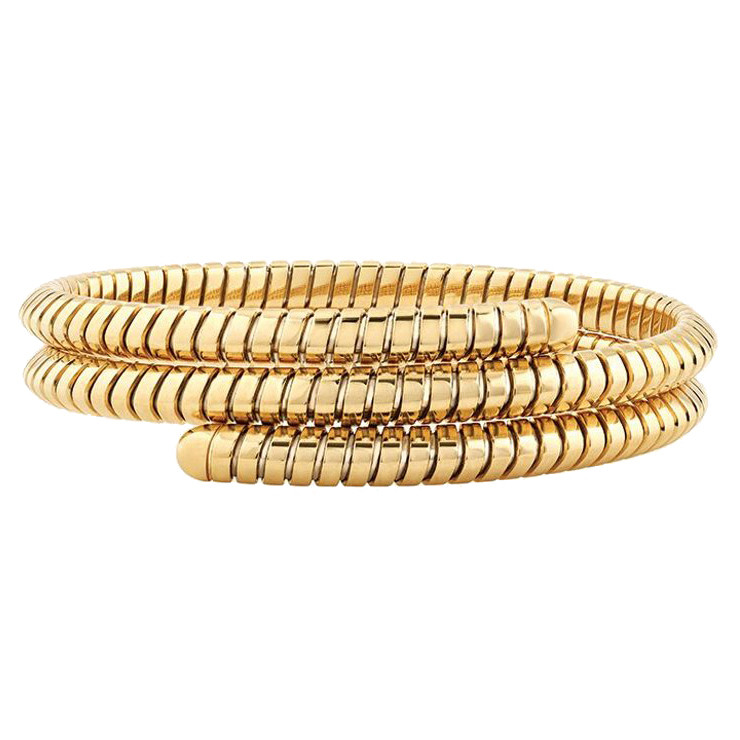 "18k Yellow Gold ""Trisolina"" Triple Bangle"