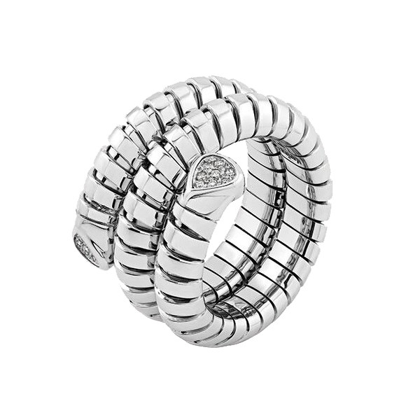 "18k White Gold & Diamond ""Trisola"" Wrap Ring"