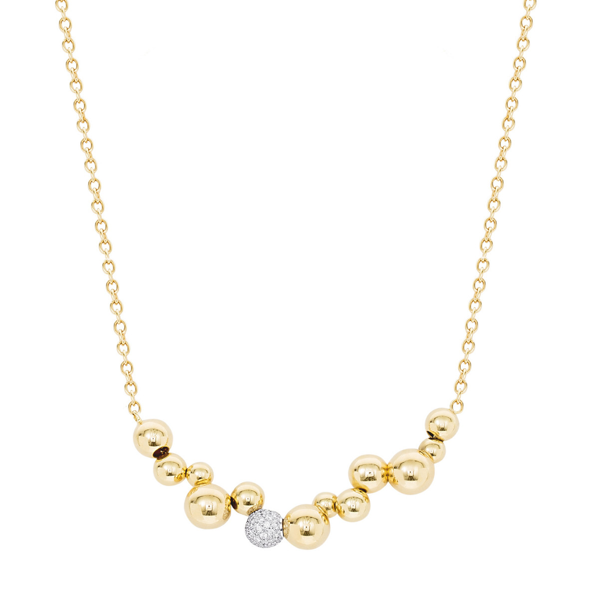 "18k Yellow Gold & Diamond ""Atomo Mini"" Necklace"