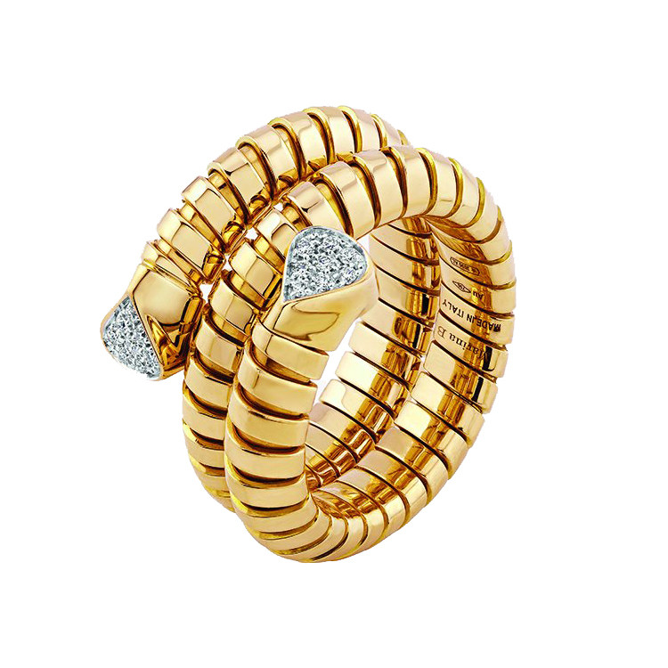 "18k Yellow Gold & Diamond ""Trisola"" Wrap Ring"