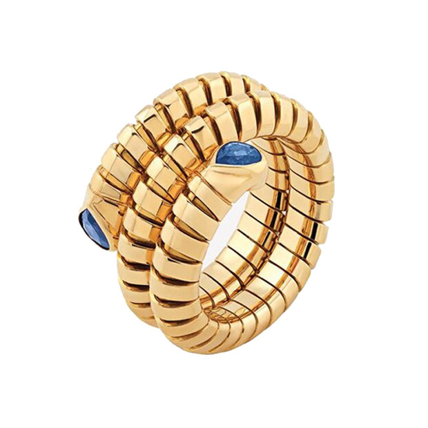 "18k Yellow Gold & Sapphire ""Trisola"" Wrap Ring"