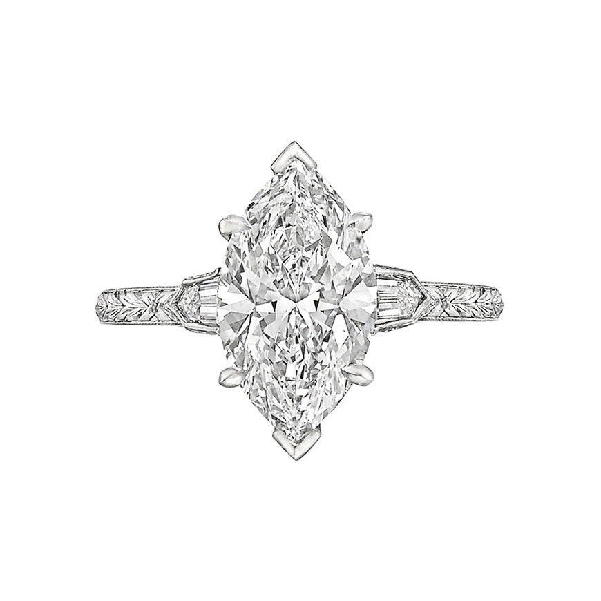 2.21 Carat Marquise-Cut Diamond Ring