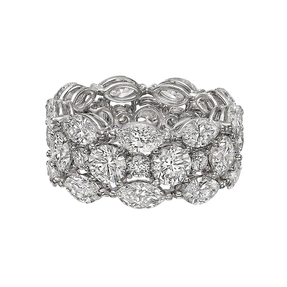 Marquise & Round Diamond Wide Band (6.50ct tw)