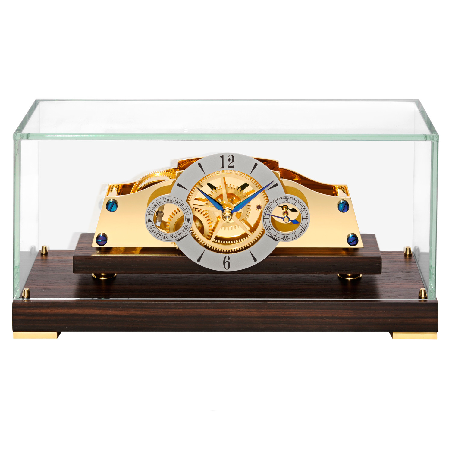 Matthias Naeschke La Mignone Desk Clock Featuring A Mechanical Manual Winding Movement With 14 Day Power Reserve Composed Of Gold Plated