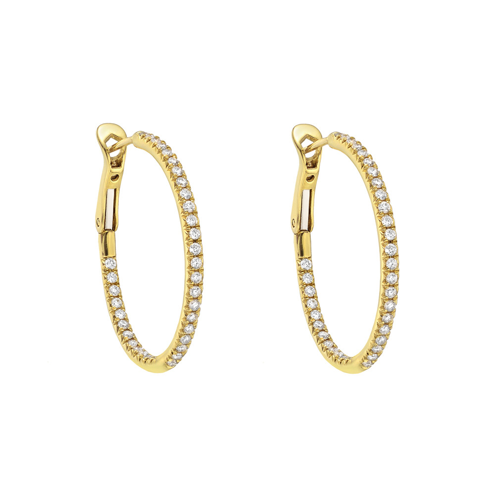 Medium Diamond Hoop Earrings (0.60ct tw)