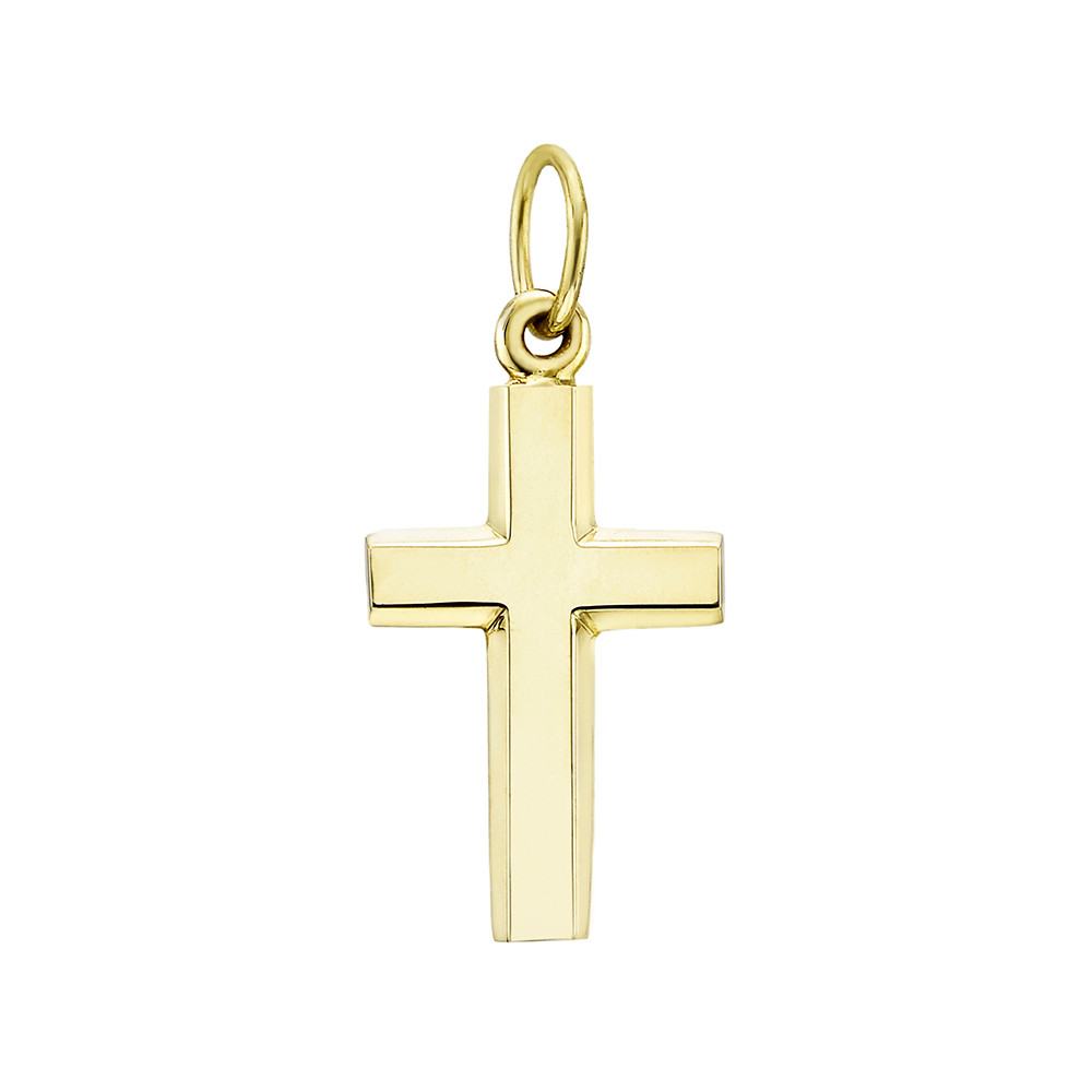 Medium 14k Yellow Gold Cross Pendant