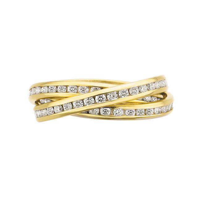18k Gold & Diamond Rolling Ring
