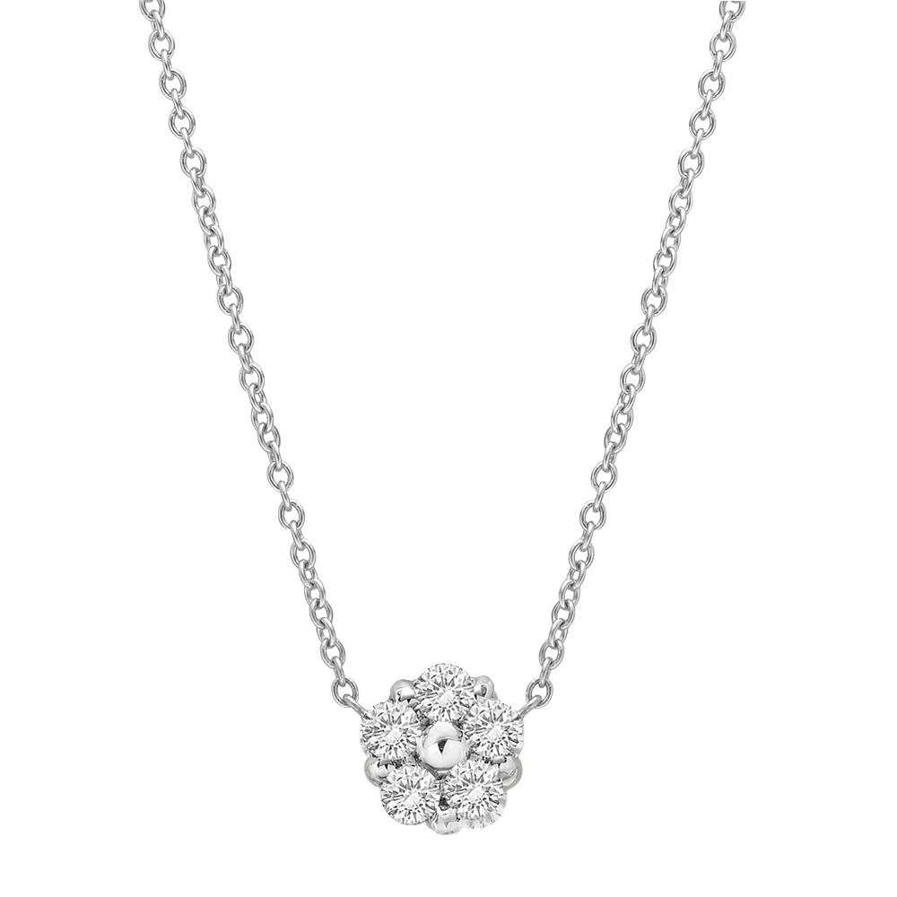 "Mini Diamond Cluster ""Anzia"" Pendant (0.4ct tw)"