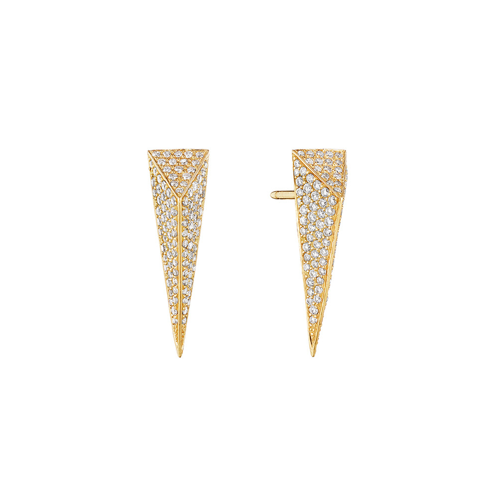 Medium Diamond Bee Stinger Drop Earstuds