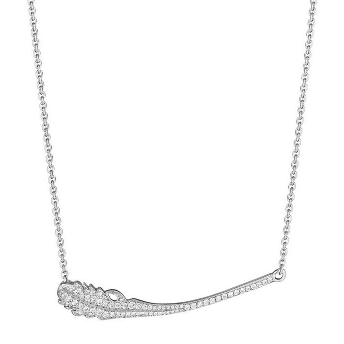 "Pavé Diamond ""Phoenix"" Pendant Necklace"