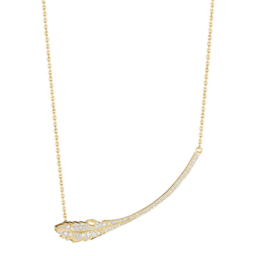 "18k Yellow Gold & Diamond ""Phoenix"" Pendant Necklace"