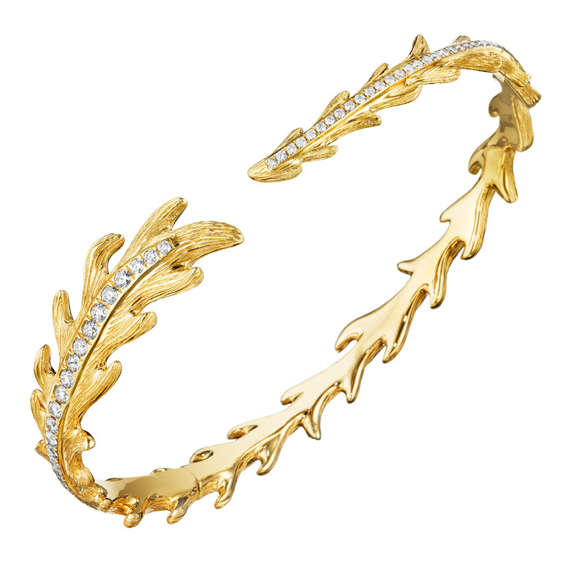 "18k Yellow Gold & Diamond ""Phoenix"" Cuff"