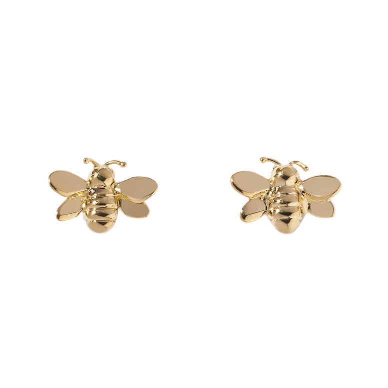 Small 18k Yellow Gold Bee Earstuds