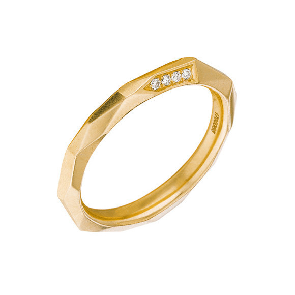 "18k Yellow Gold & Diamond ""Switch"" Band Ring"