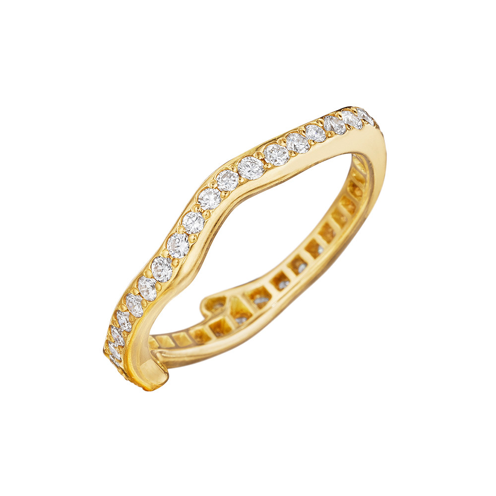 18k Yellow Gold & Diamond Twig Band Ring