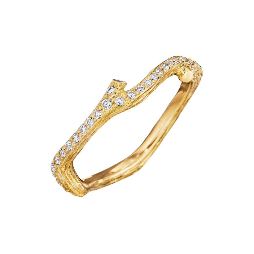 "Diamond ""Wonderland' Small Twig Band Ring"