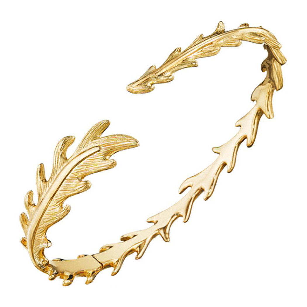 "18k Yellow Gold ""Phoenix"" Feather Cuff"