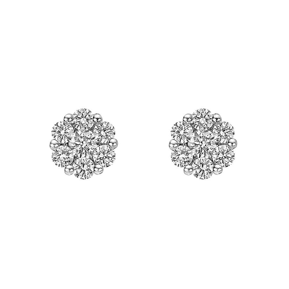 Mini Diamond Cluster Earstuds (~0.7 ct tw)