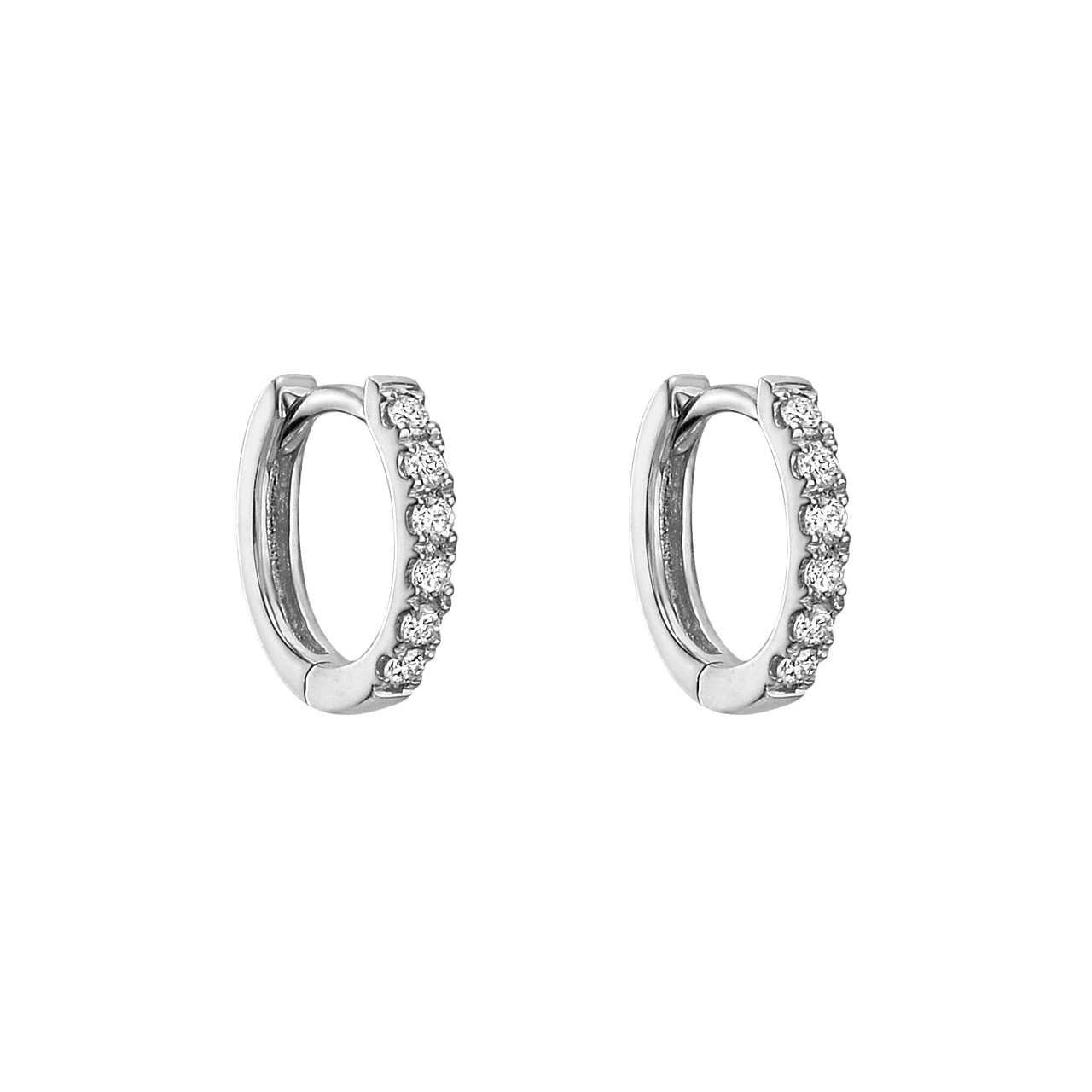 Mini Diamond Hoop Earrings (~0.1 ct tw)