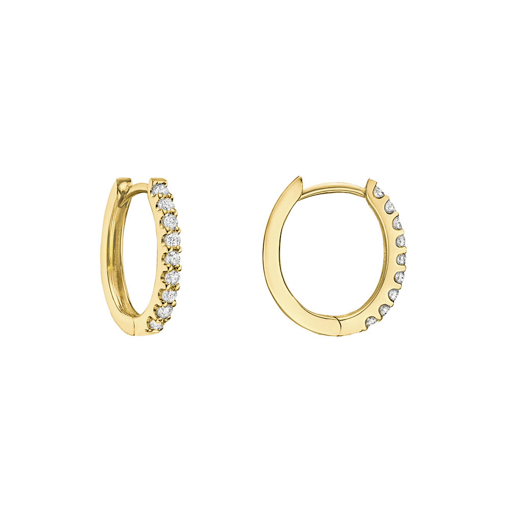 Mini Diamond Hoop Earrings (~0.2 ct tw)