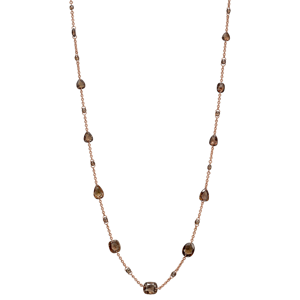 Mixed-Cut Brown Diamond Chain Necklace (6.22 ct tw)
