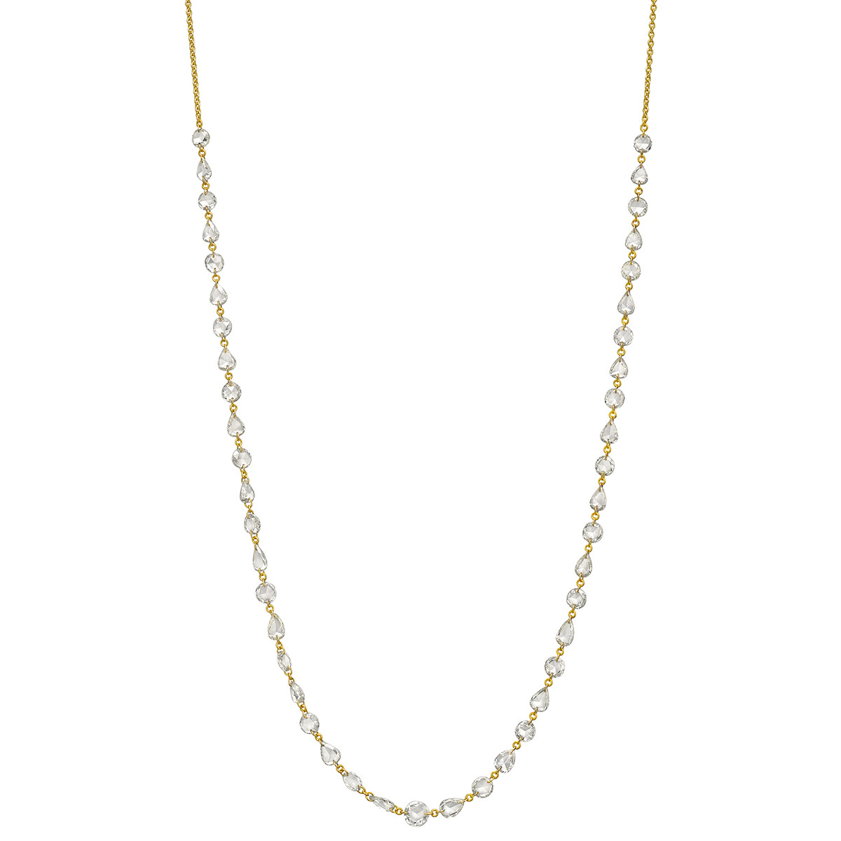 Mixed-Cut Diamond Chain Necklace (6.21 ct tw)