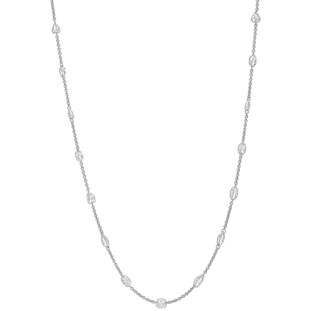 Rose-Cut Diamond Chain Necklace (2.27 ct tw)