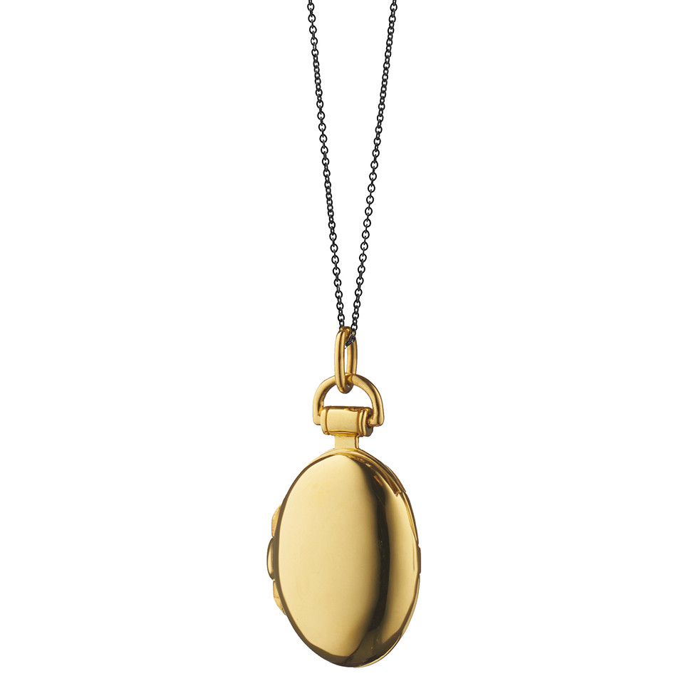 "18k Yellow Gold Small Oval ""Anna"" Locket"