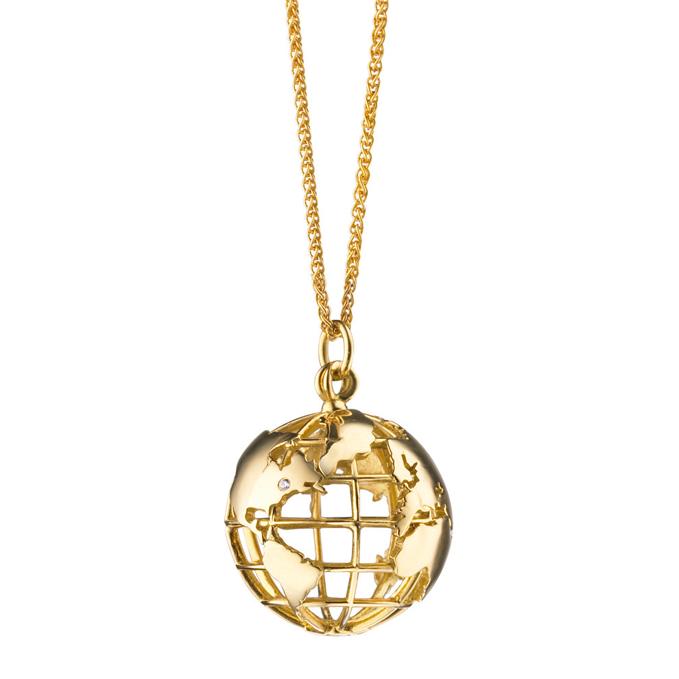 "18k Yellow Gold ""My Earth"" Pendant"