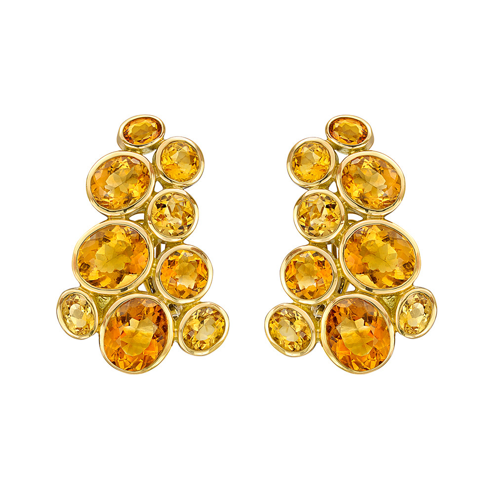 "Multicolored Citrine ""Windsor"" Earrings"