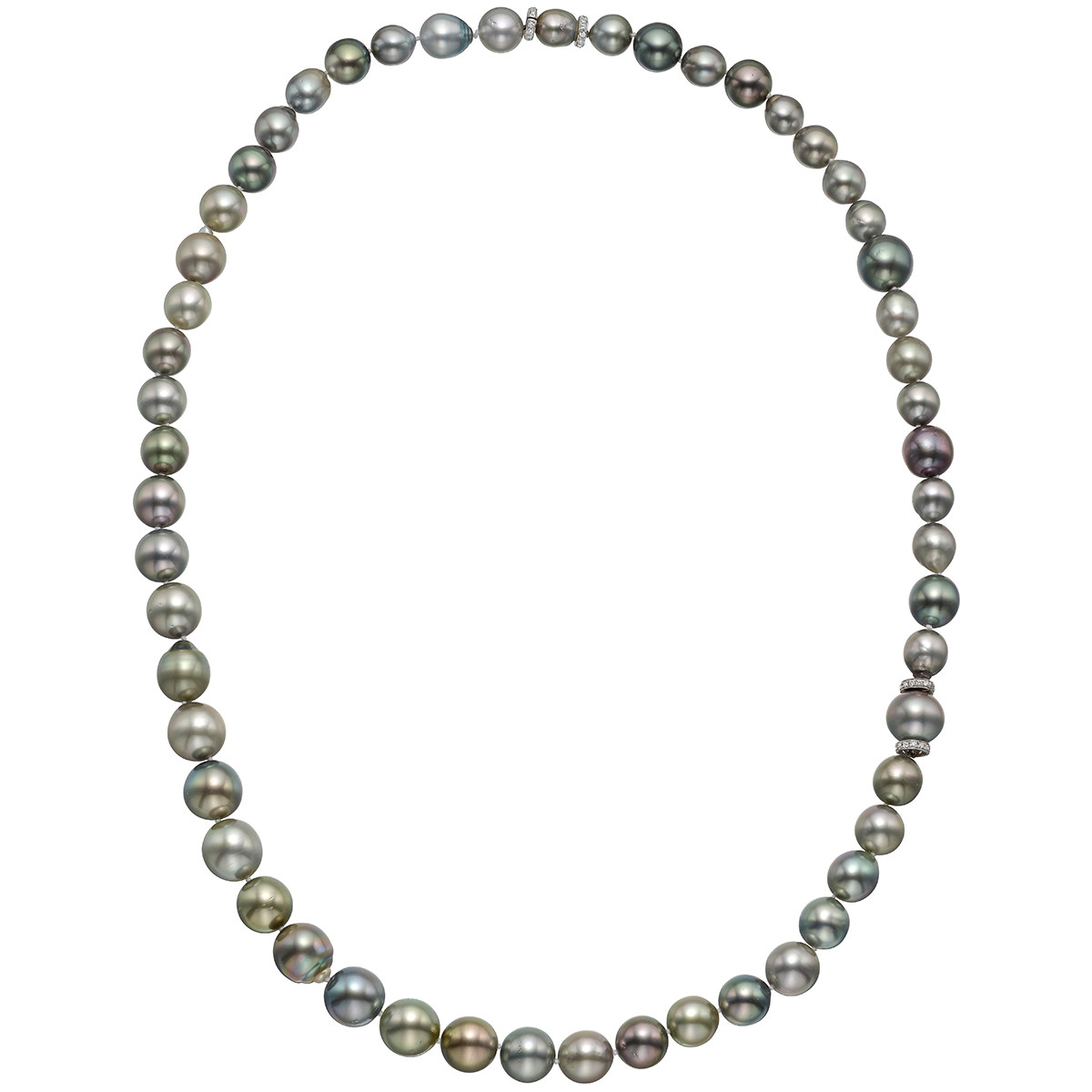 Multicolored Tahitian Pearl Long Necklace