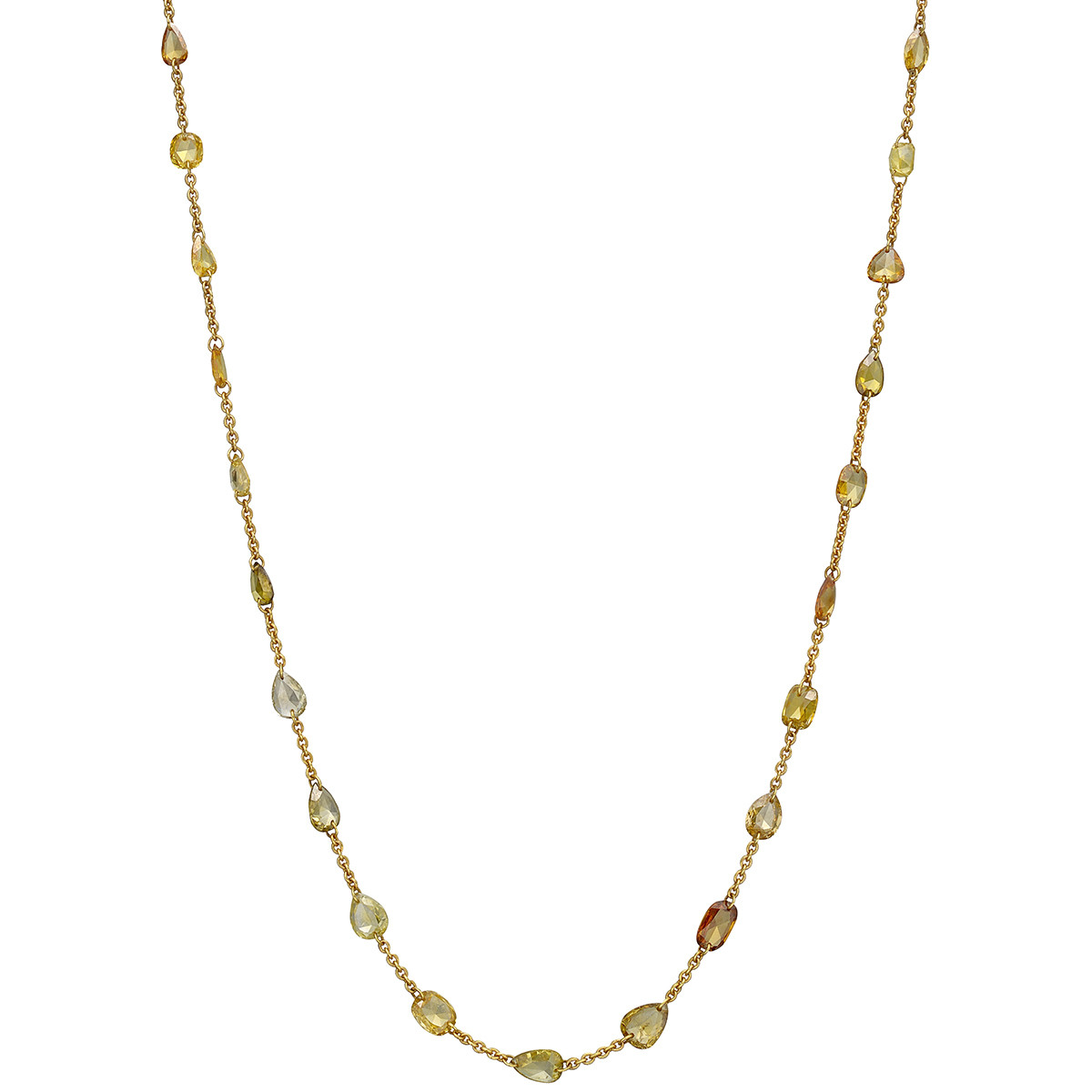 Multicolored Diamond Chain Necklace (4.95 ct tw)
