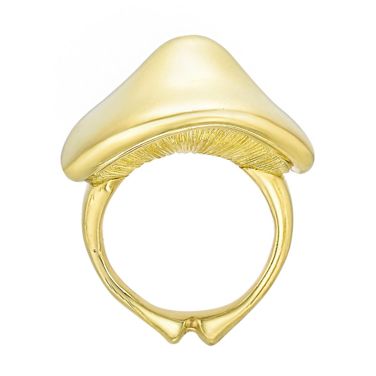 18k Yellow Gold Mushroom Ring