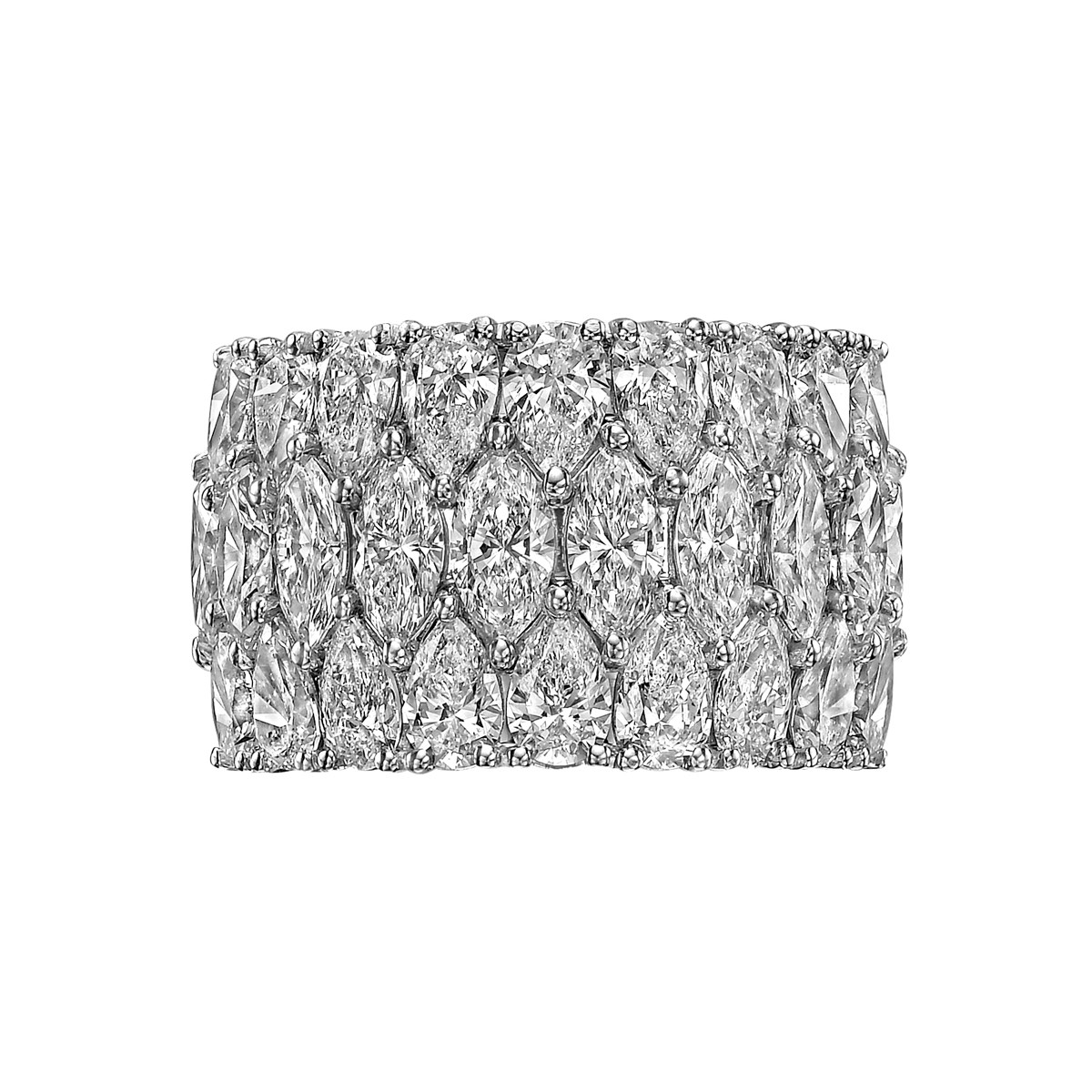 Marquise & Pear Diamond Eternity Band (5.79ct tw)