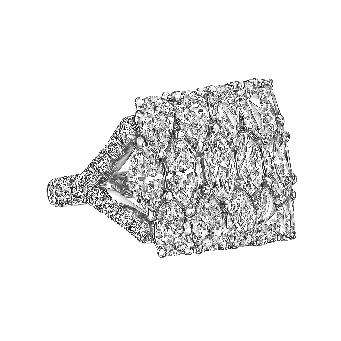 Marquise & Pear Diamond Ring (5.79ct tw)