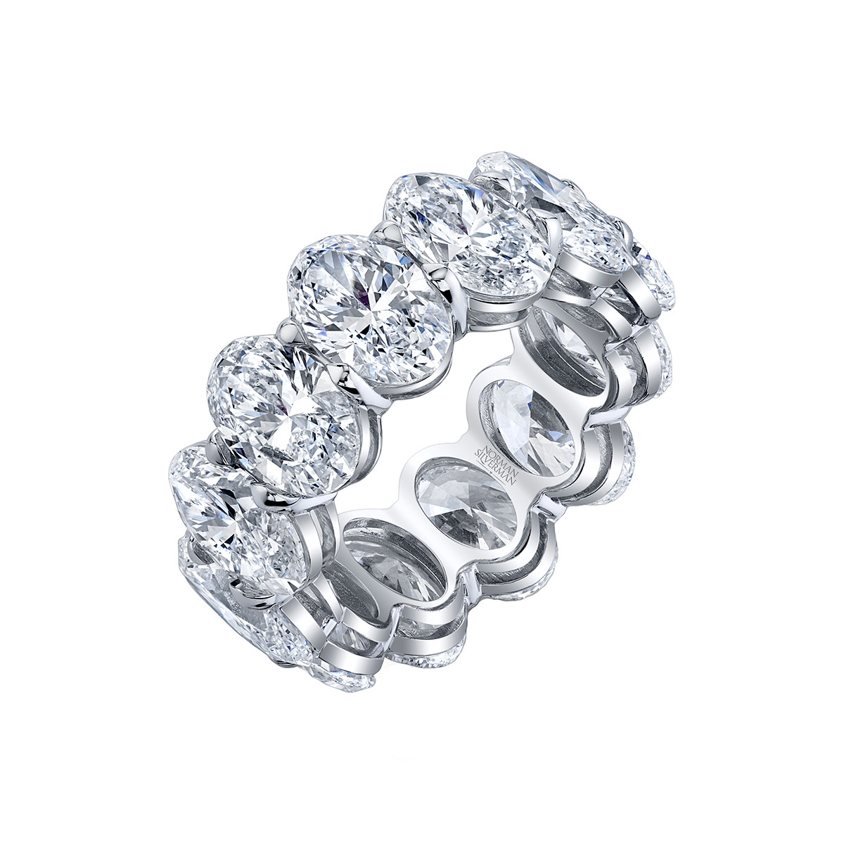 Oval-Cut Diamond Eternity Band (11.82tcw)