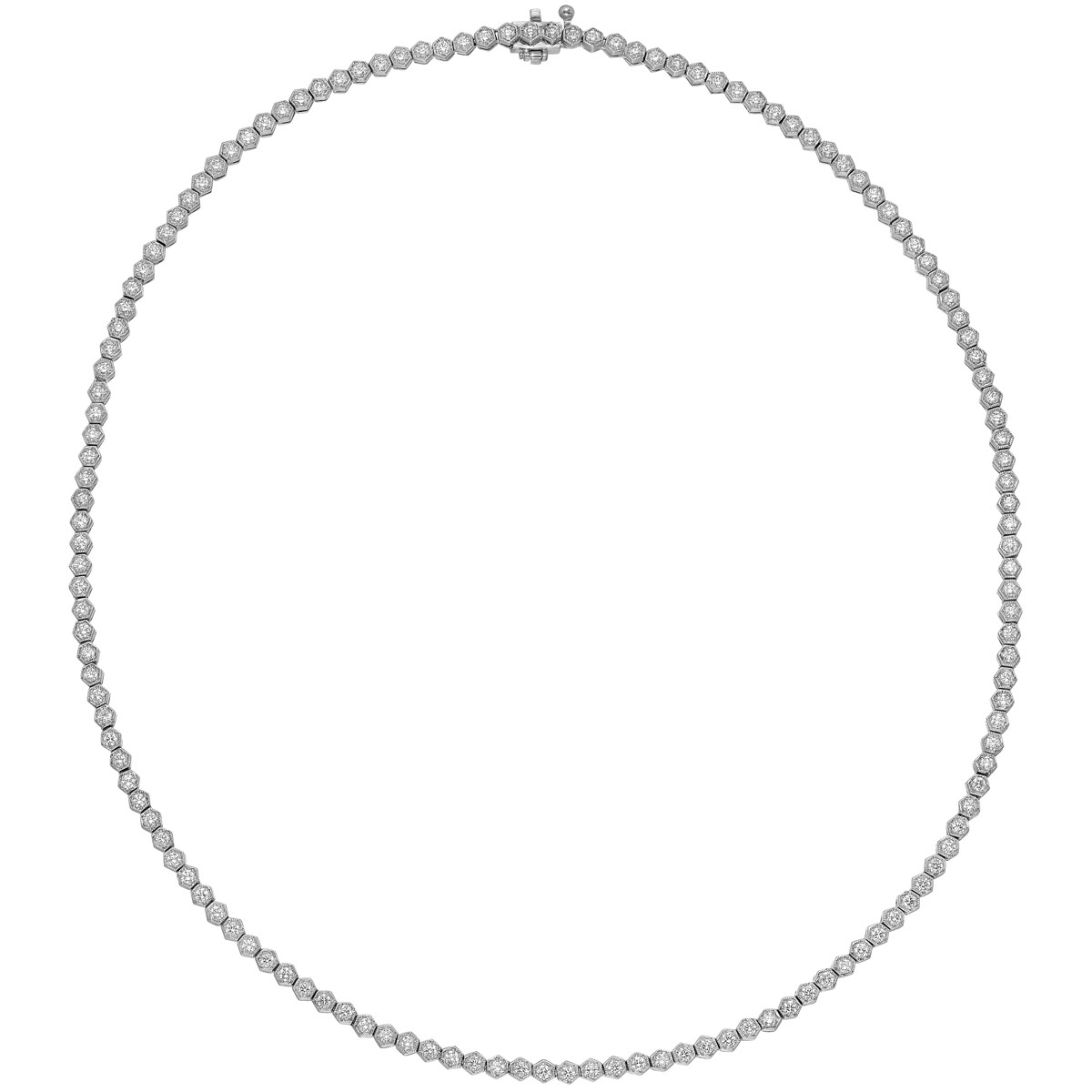 Round Brilliant Diamond Line Necklace (~3 ct tw)