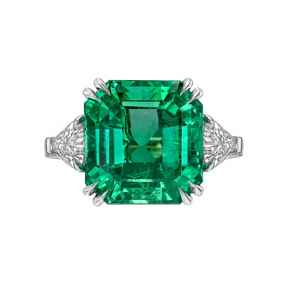 10.59ct Fine Colombian Emerald Ring