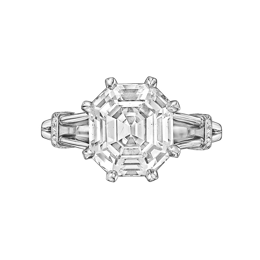 4.32ct Colorless Emerald-Cut Diamond Ring
