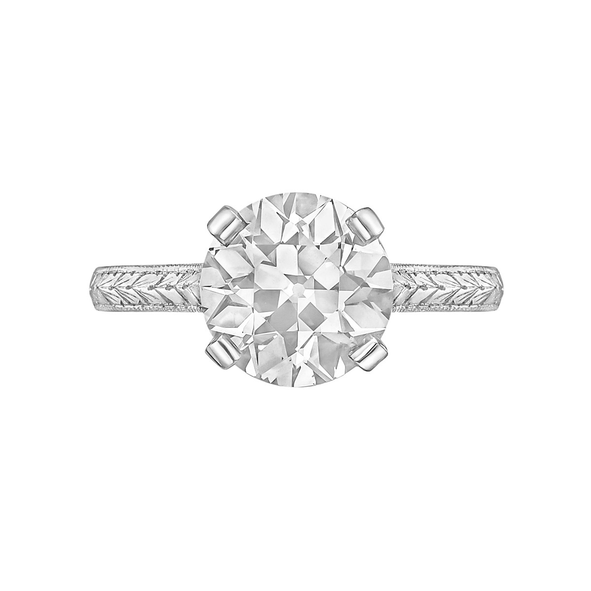 2.54ct Old European-Cut Diamond Ring