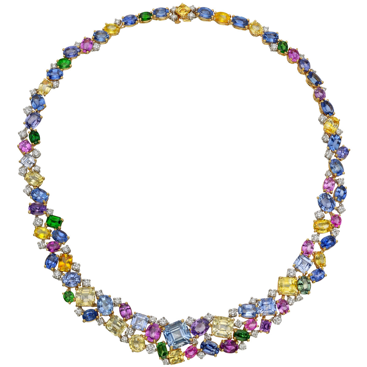 watches colored product yellow multicolored shipping multi free gold overstock jewelry sapphire necklace today