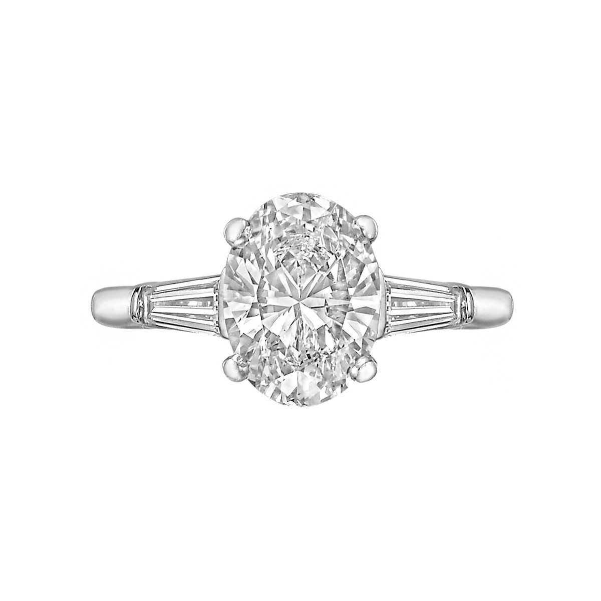 1.51ct Colorless Oval-Cut Diamond Ring