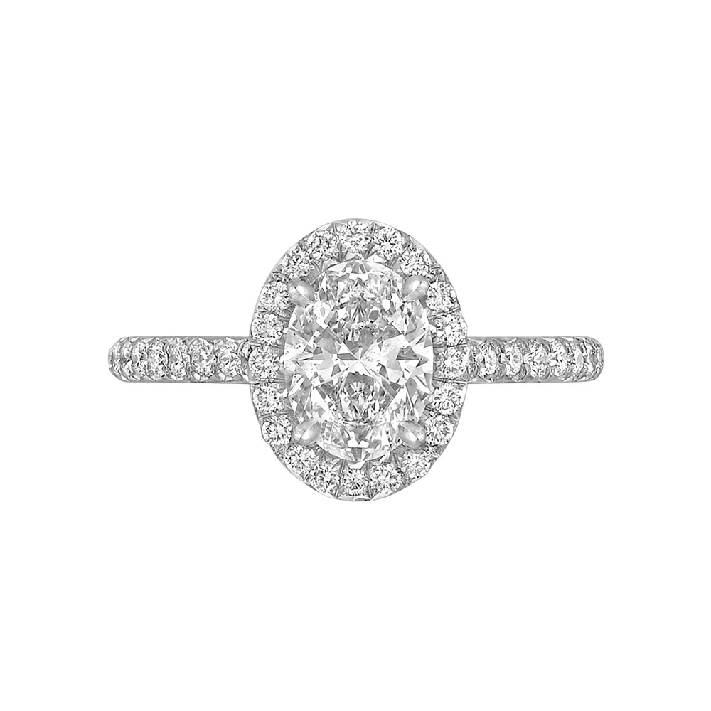 "1.09ct Oval Brilliant-Cut Diamond ""Oriana"" Ring"