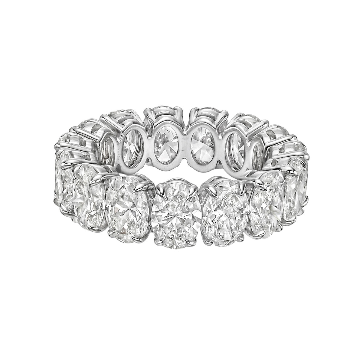 "Oval Brilliant-Cut Diamond ""Ara"" Eternity Band (9.22 ct tw)"