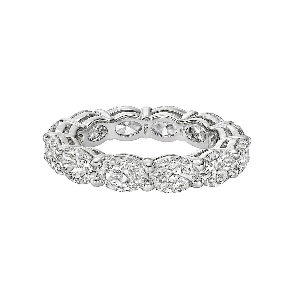 Oval-Cut Diamond East-West Eternity Band (4.83ct tw)