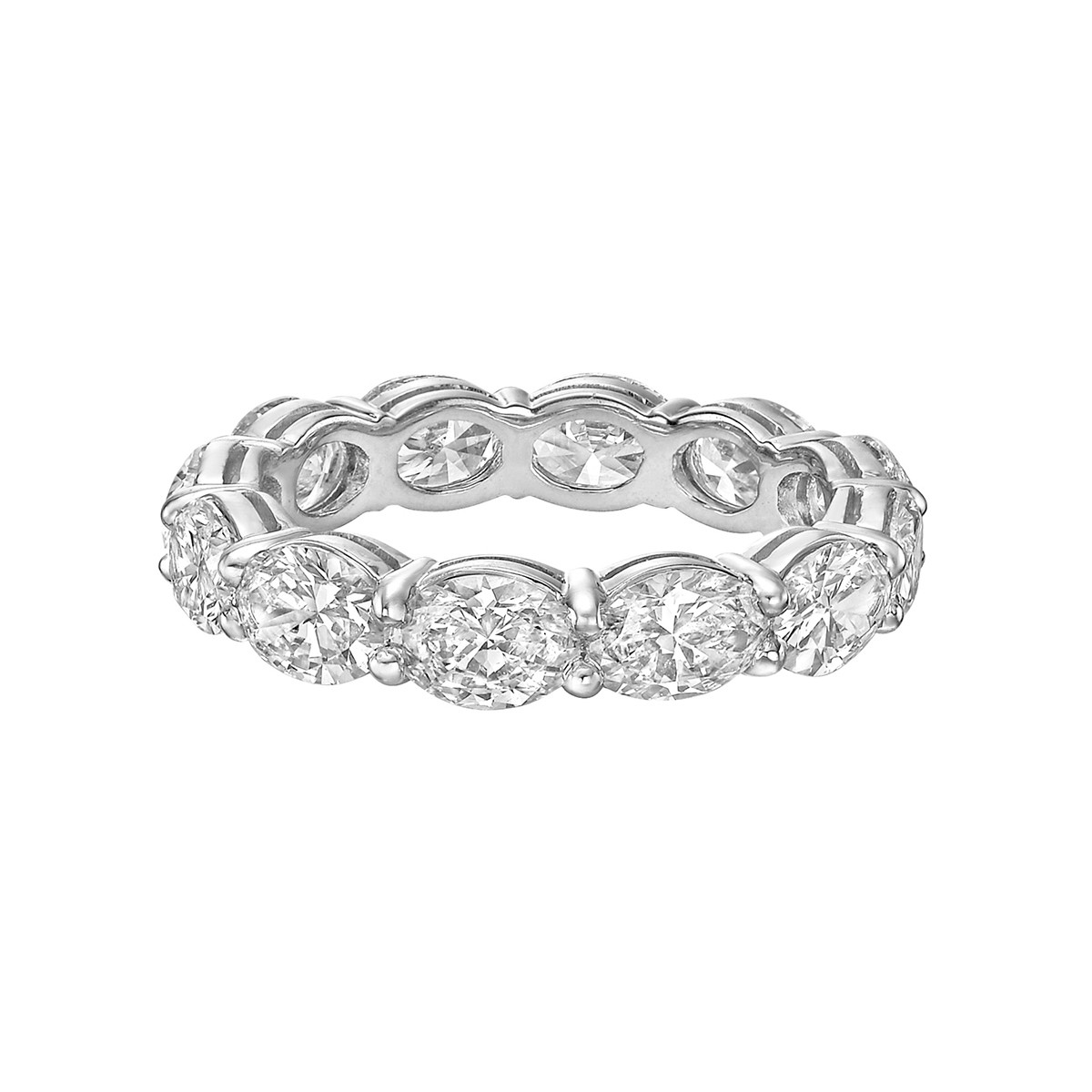 Oval-Cut Diamond East-West Eternity Band (4.51tcw)