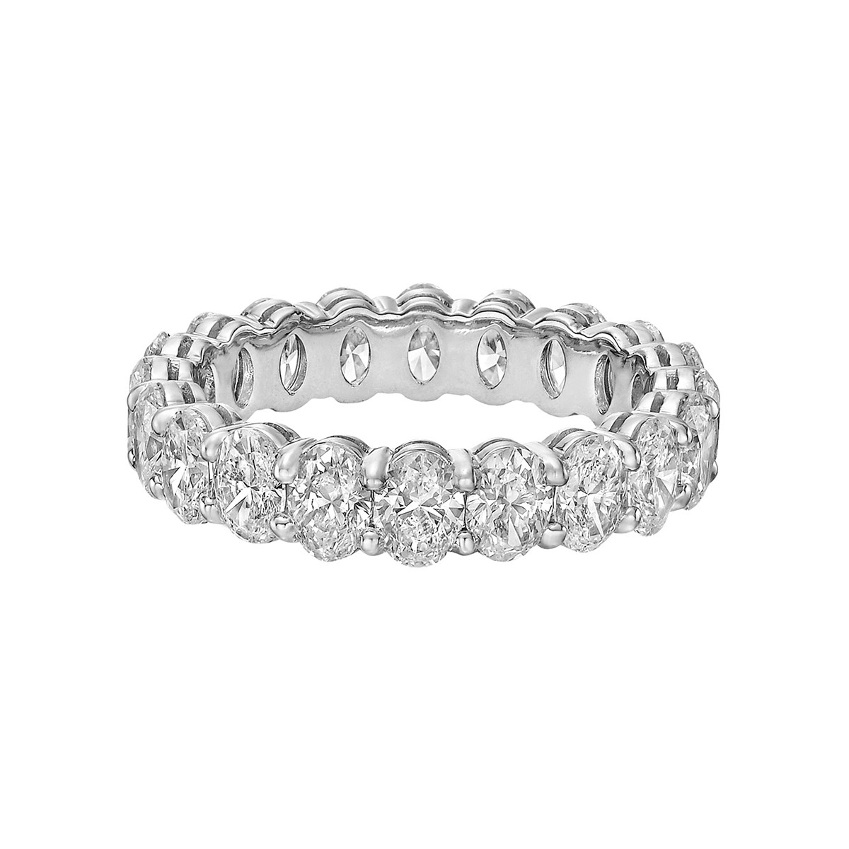 Oval-Cut Diamond Eternity Band (3.77tcw)